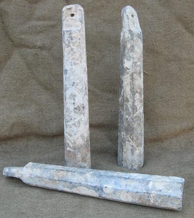 Obr. 21: Závaží olovnice o váze 6 kg a délce jedné stopy ze začátku 18. století.