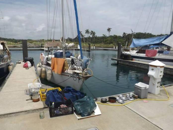 Přípravy na plavbu.