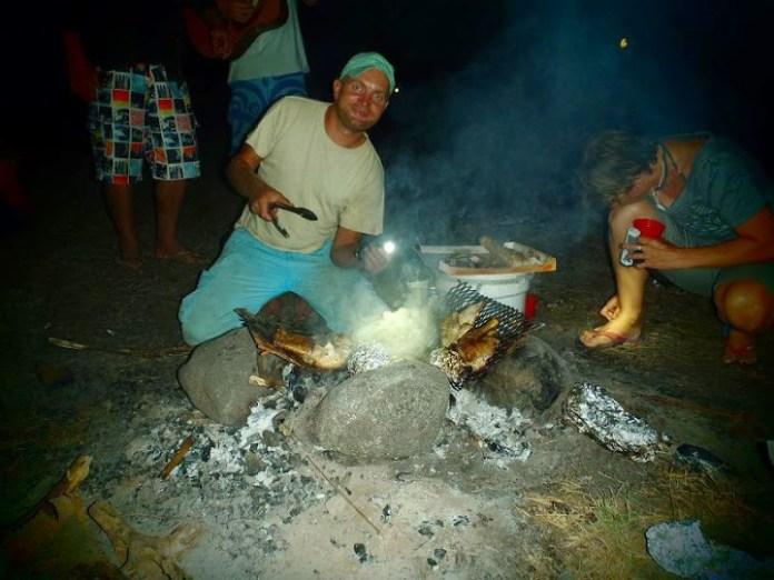Každovečerní tradiční grilování.