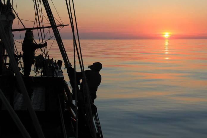 Západ slunce na La Grace