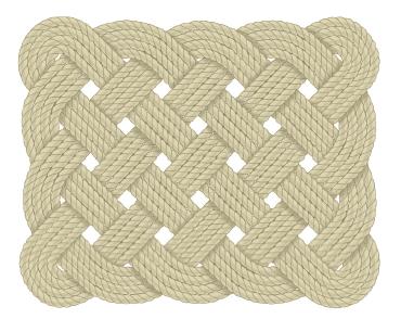 rohožka z lana