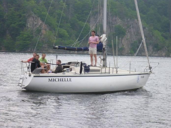 Michelle, jedna z nejrychlejších lodí na Orlíku.