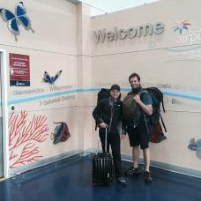 Patrik a Martin na letišti