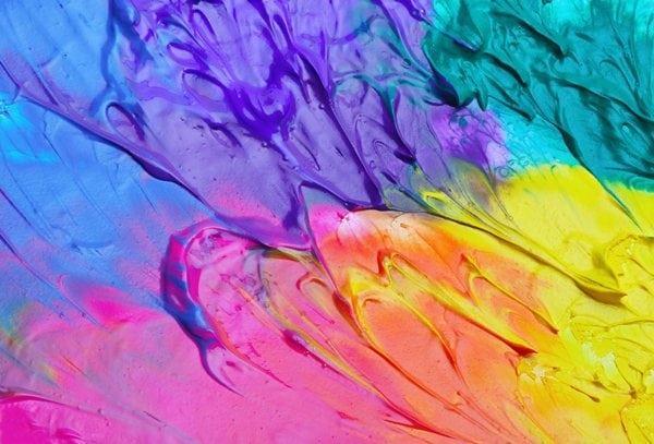 مخلوط کردن رنگ های مختلف