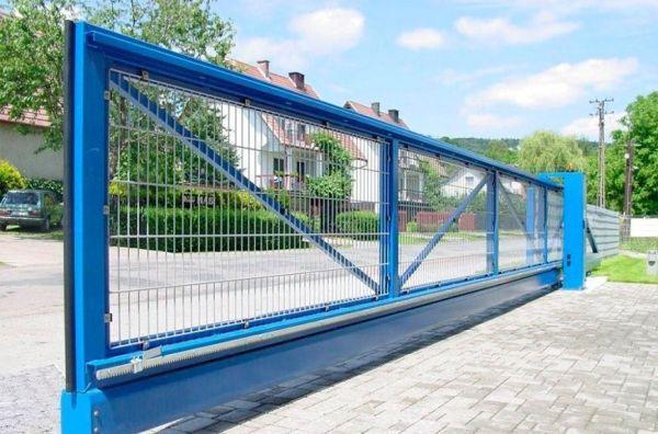 Ворота 3D откатные 2500x6000 мм купить в Краснодаре