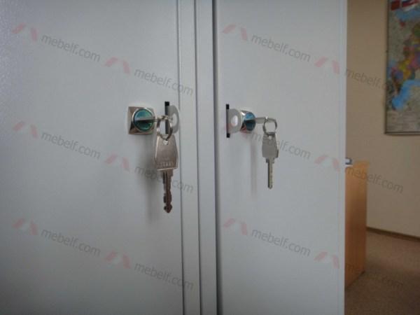 Шкаф металлический для одежды двухсекционный ШР-22 L600 ...