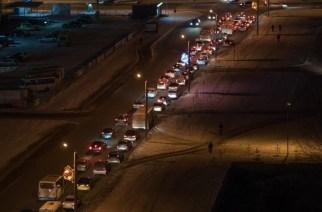 В «Парковом» ад из-за новой настройки светофора