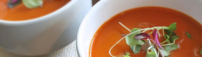 """Суп томатный с муссом из сыра """"дор блю"""". Рецепт на Красота и Баланс"""