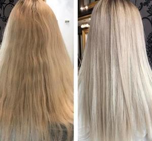 få bort grått hår efter färgning