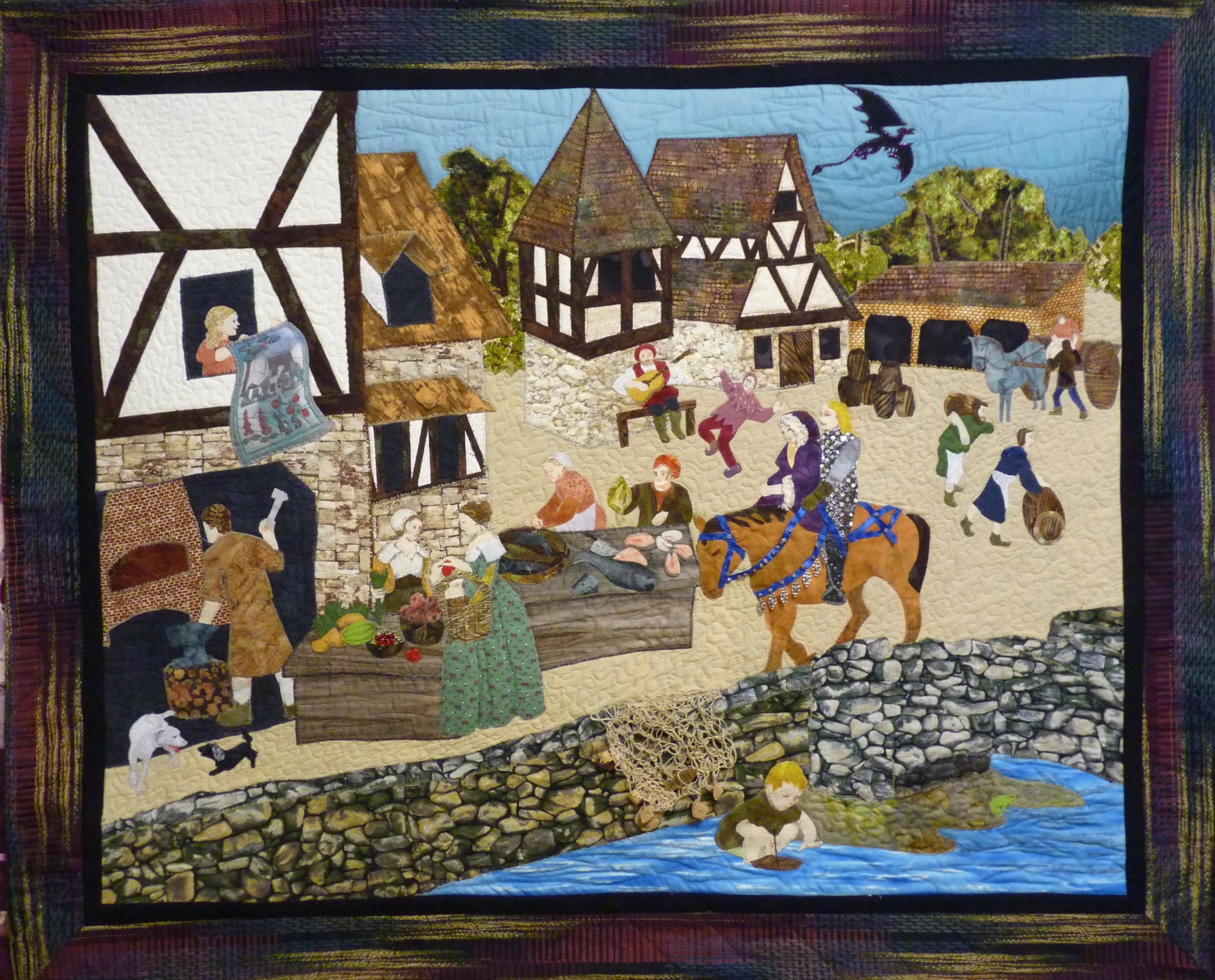 Medieval Market Scene Quilt Susan Kraterfields Quilts