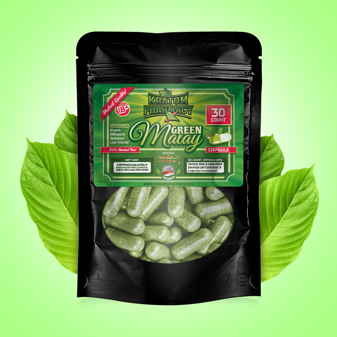 Green Malay - 30 count