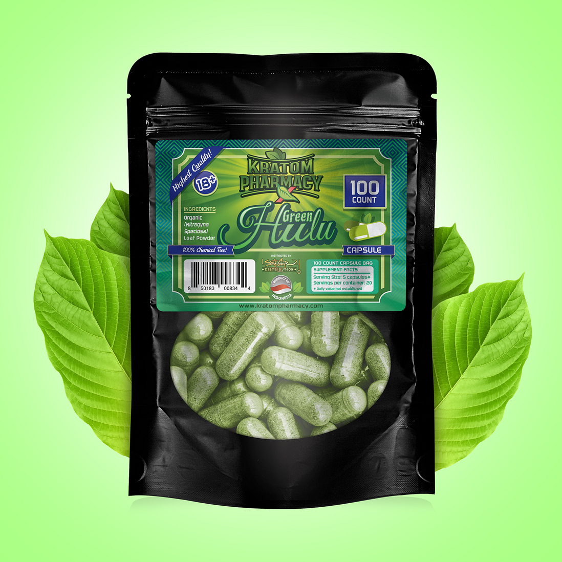 Green Hulu - 100 Capsules