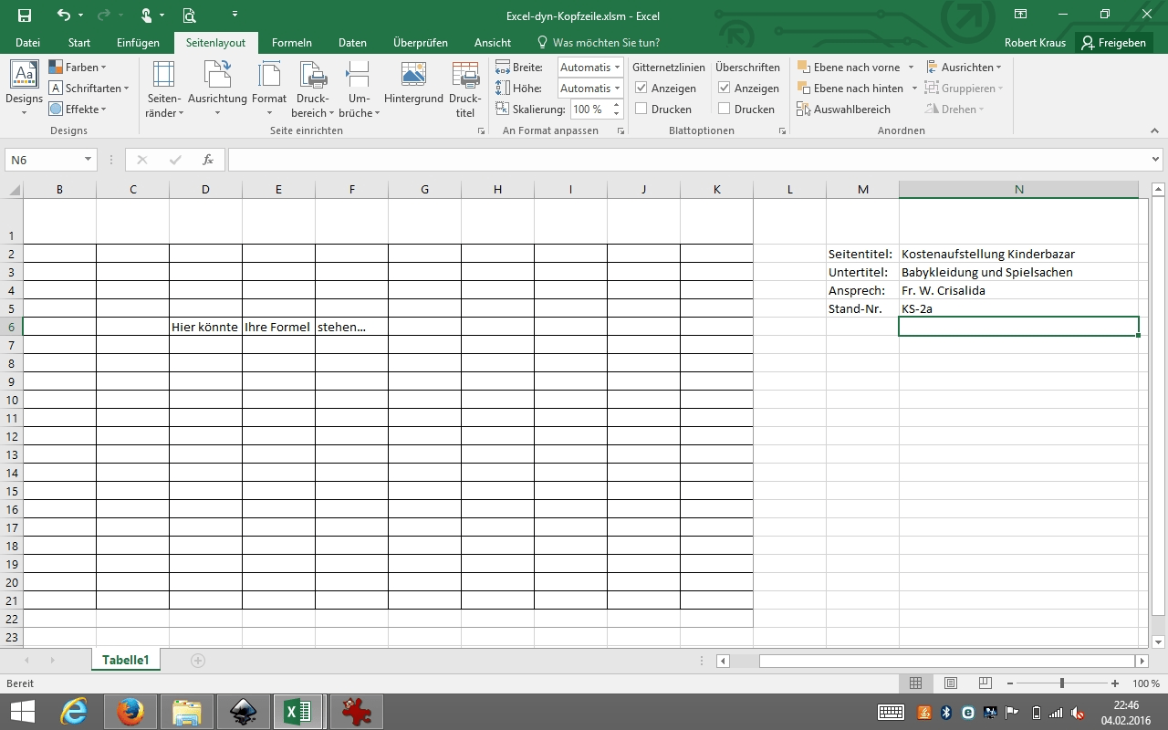 Excel Vba Diagramm Name Andern