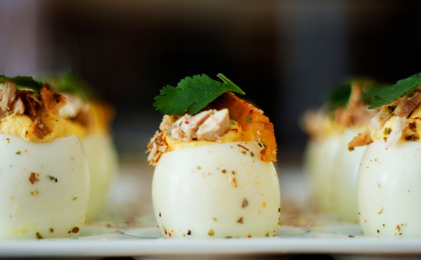 Eggsplosions – A twist on Deviled eggs