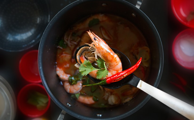 TOM YUM Goong – Thai Soup with SHRIMP