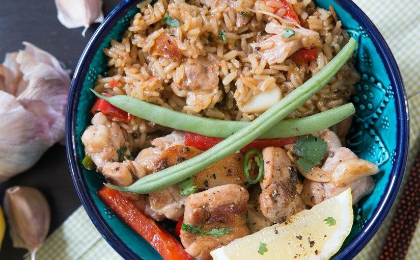 Lemon & Garlic Chicken with Instant rice