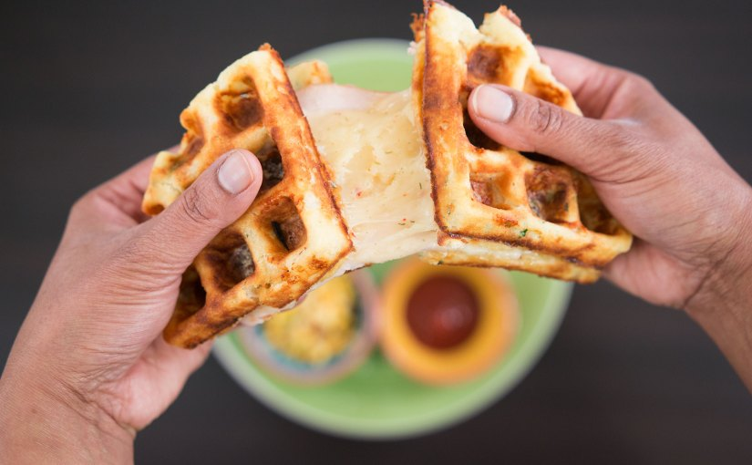 Grilled Cheese & Turkey Waffwich – Waffle + Sandwich