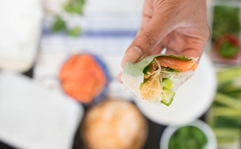 Smoked Salmon Vietnamese Rolls
