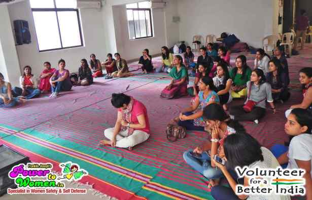 Volunteers for Better India organised a workshop by 'Dr. Safety' Franklin Joseph conducting a Power to Women Self Defense, Safety Awareness & Psychological Empowerment against Crime, Violence, Harassment & Sexual Abuse
