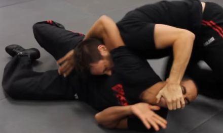 Headlock defense on the ground