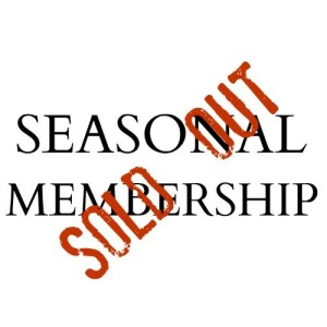SEASONAL MEMBERSHIP BUTTON 1000X SOLD OUT STAMP