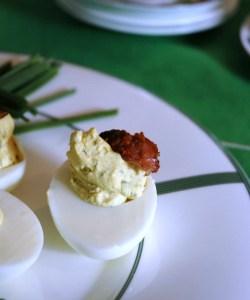 Bourbon Bacon :: A Southern Twist On Deviled Eggs