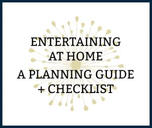 printable entertaining at home checklist ENTERTAINING AT HOME