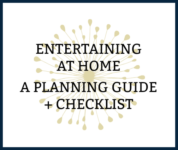 printable entertaining at home checklist