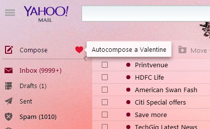 Compose Valentine Mail