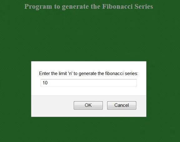code to generate Fibonacci numbers using Javascript