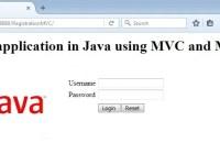 Login application in Java using MVC and MySQL database