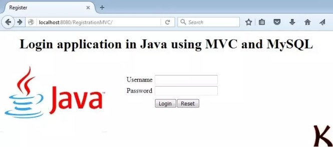 Login application in Java using MVC and MySQL database
