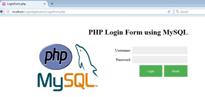 PHP login form using MySQL database connection