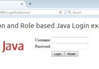 Session and Role based Java Login Example application