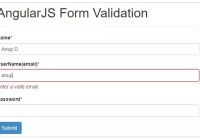 Form validation in AngularJS - email field invalid