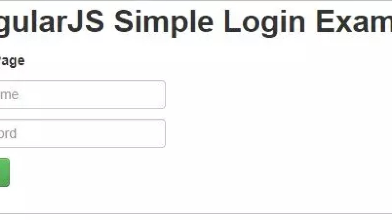 Simple Login Example in AngularJS with form validations - Krazytech