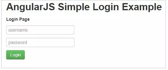 Simple Login Example in AngularJS with code