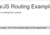 Index page explaining Routing in AngularJS