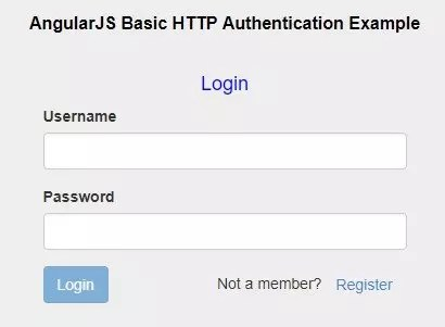 Authentication form in AngularJS