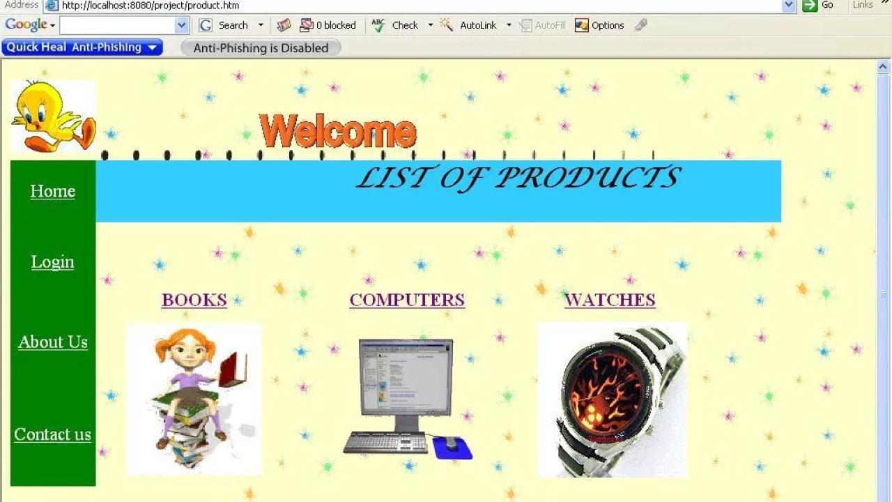 Secured webportal for online shopping - Krazytech