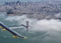 Solar impulse flight top view
