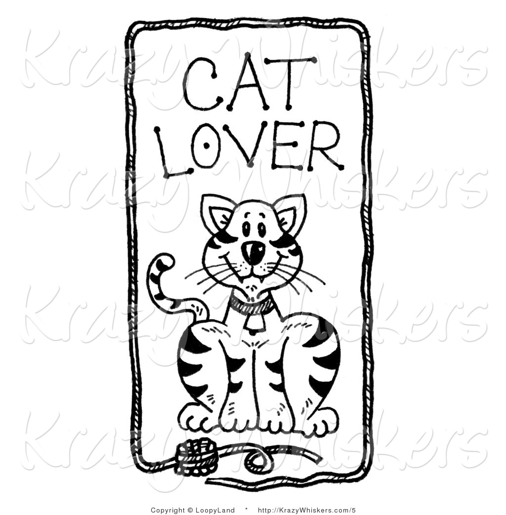 Kitty Clipart Of Cat Lover Text Over A Feline With A Frame