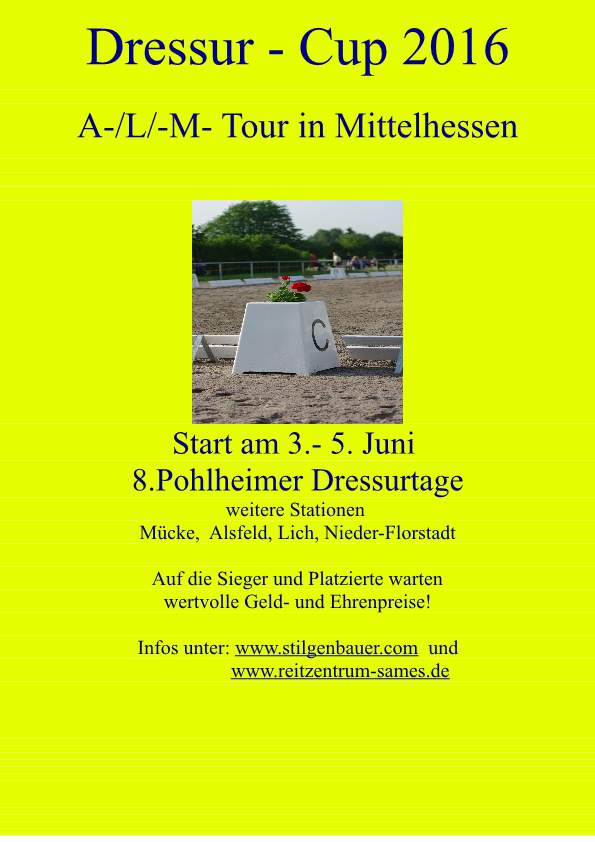 2016 Dressur Cup Mittelhessen Flyer
