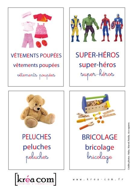 des étiquettes pour les boites a jouets