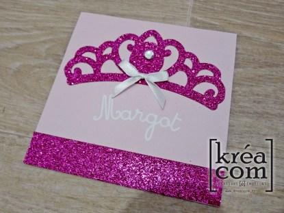 invitation princesse couronne 6 ans margot