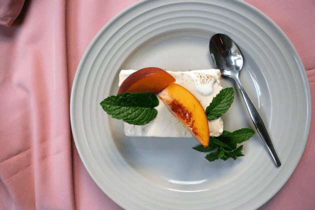 Peach Cheesecake Slice