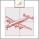 Redwork Airplane