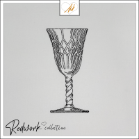 Redwork Crystal Glass