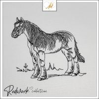 Redwork Horse