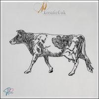 Redwork Cow